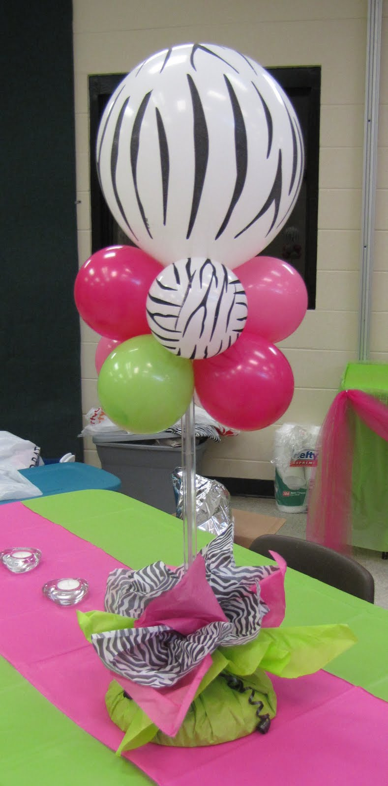 Party People Event Decorating Company Zebra Hot Pink And Lime Sweet 16 Fort Meade Community Center