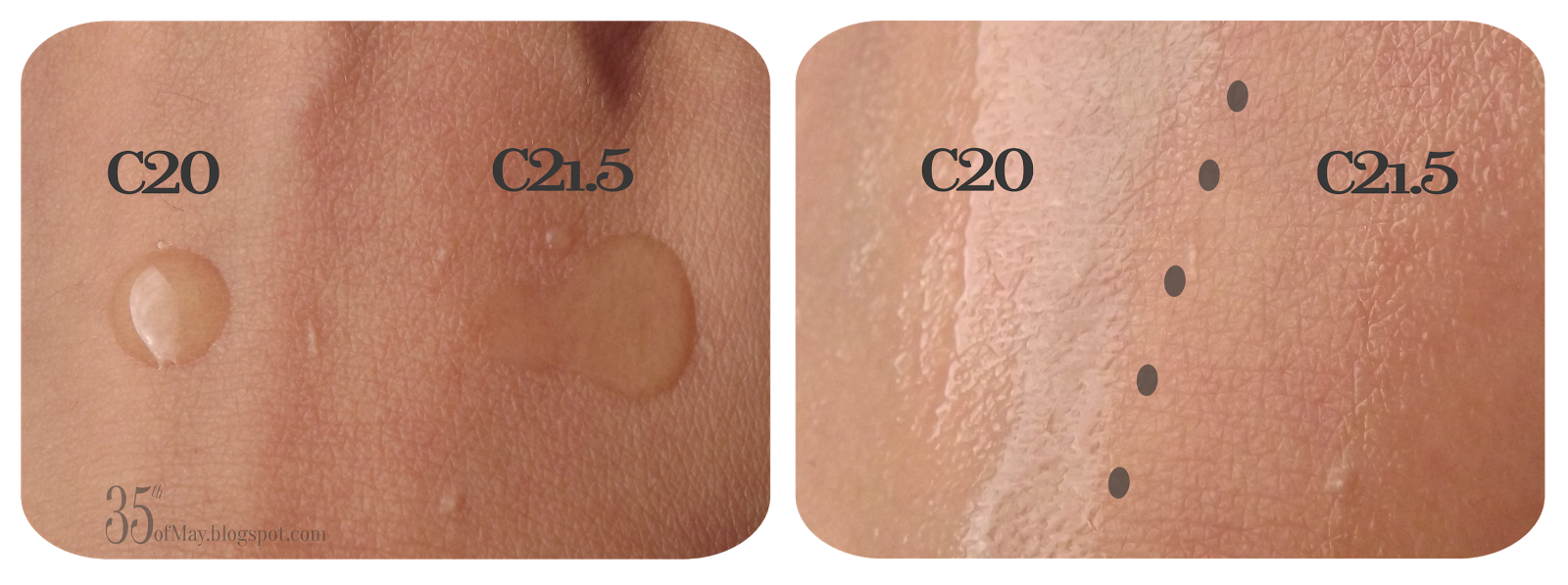C20 vs C21.5 aka The Battle of the Vitamin C Serums swatch