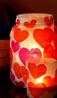 frascos,reciclar,san valentin,amor,fanales,faroles,decoracion