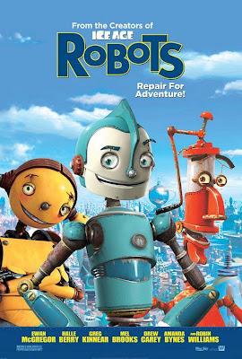 Papercraft de los personajes de la película Robots. Manualidades a Raudales.