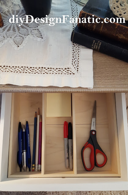 drawer organizer, diy, build it yourself, cottage, cottage style, farmhouse, farmhouse style, diydesignfanatic.com