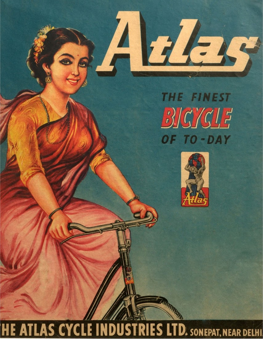 Atlas Bicycle Advertisement - India 1973