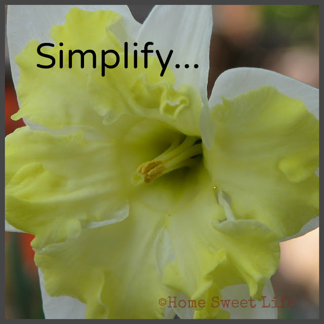 Five minute Friday writing prompts, simplify, choosing less
