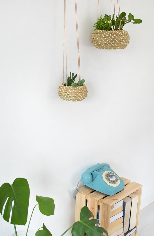 woven hanging basket ikea hack
