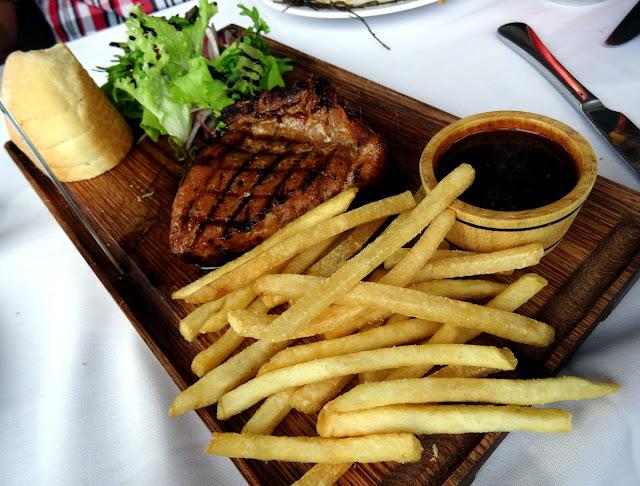 Pork steak and fries - Shri Restaurant & Lounge in Ho Chi Minh City, Vietnam