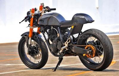 Foto Modifikasi Yamaha Scorpio Cafe Racer Impian Masa kini