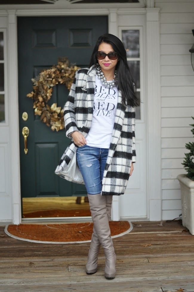 Chicwish Plaid Coat