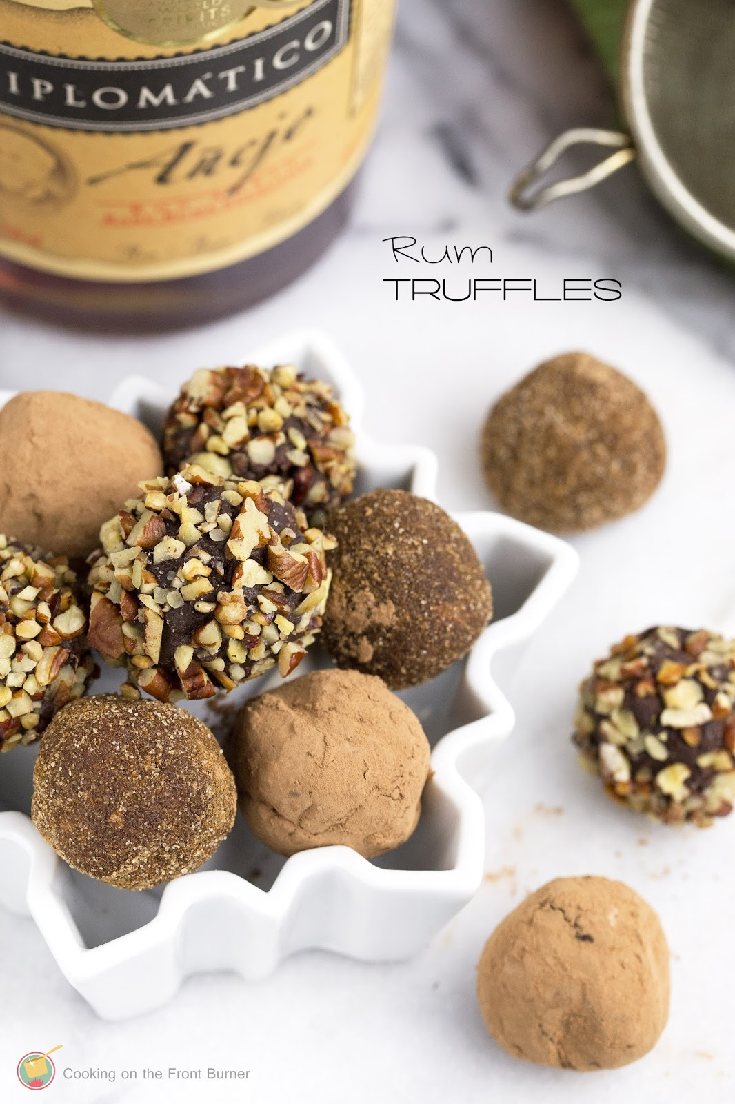 Chocolate Rum Truffles | Cooking on the Front Burner