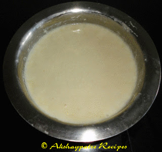 mix the urad dal paste and rice rava together and keep it for fermentation
