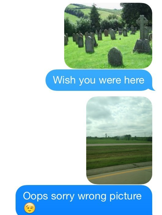 Funny Wish You Were Here Fail SMS Picture