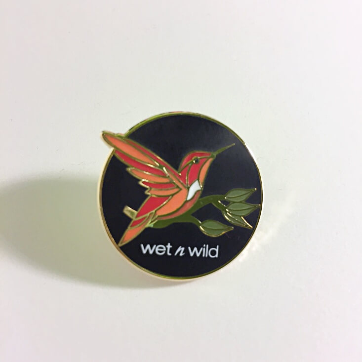 wet n wild Limited Edition Flights of Fancy collectible pin