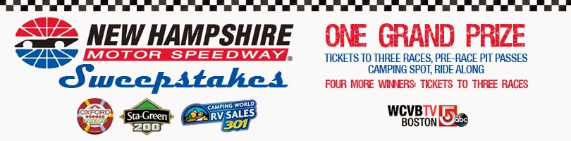 Enter the Nascar NH Sweepstakes. Ends 7/7/14.