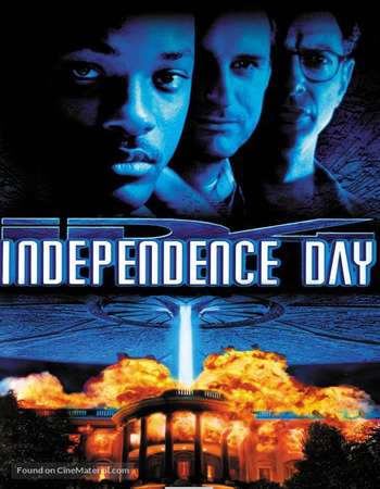 Poster Of Independence Day 1996 Dual Audio 180MB BRRip HEVC Mobile - EXTENDED Free Download Watch Online Worldfree4u