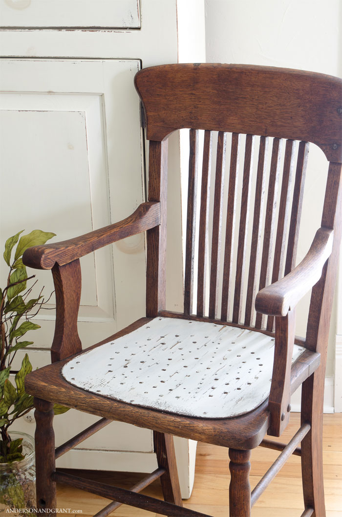Update an antique chair by painting just the seat.  |  www.andersonandgrant.com
