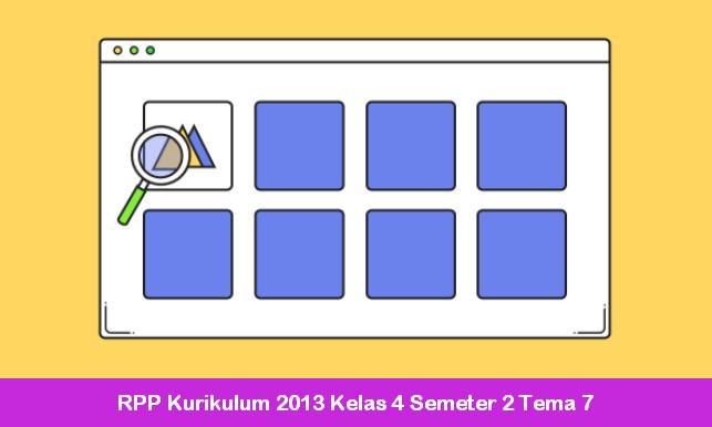 RPP Kurikulum 2013 Kelas 4 Semeter 2 Tema 7
