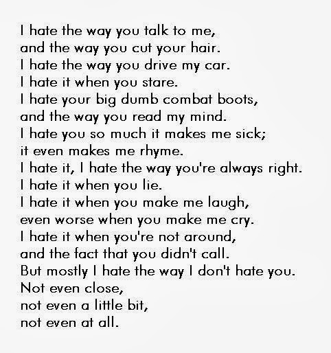 Poems Quotes Reality. QuotesGram |I Hate You Poems And Quotes