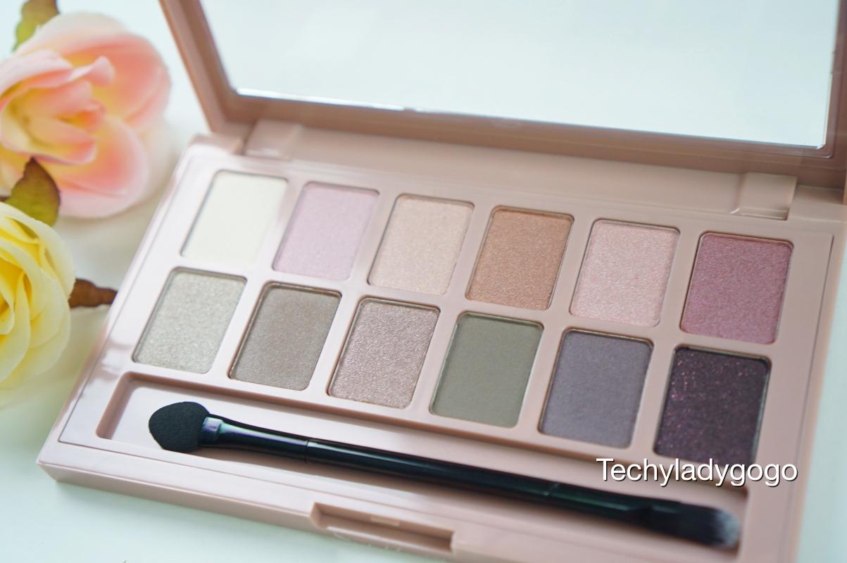 Maybelline The Blushed Nudes Eyeshadow Palette อายแชโดว์โทนนู้ดชมพู 12 เฉดสี โรสโกลด์