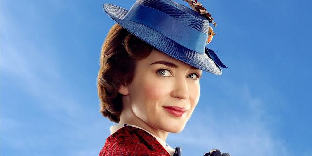 Mary Poppins (Emily Blunt) dans Le Retour de Mary Poppins des studios Disney (Copyright : © 2018  Disney)