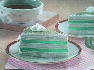 Gambar Resep Green Tea Mille Crepes Cake