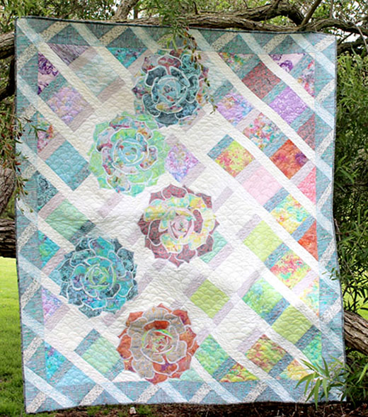 Summer Trellis Quilt Free Pattern Designed by Flaurie & Finch for By RJR Fabrics