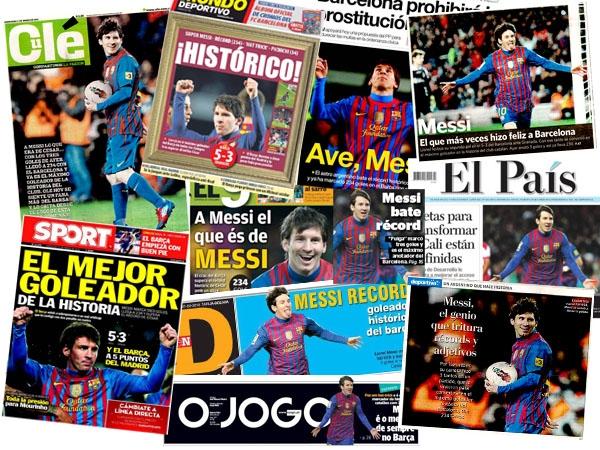 Messi en los periodicos