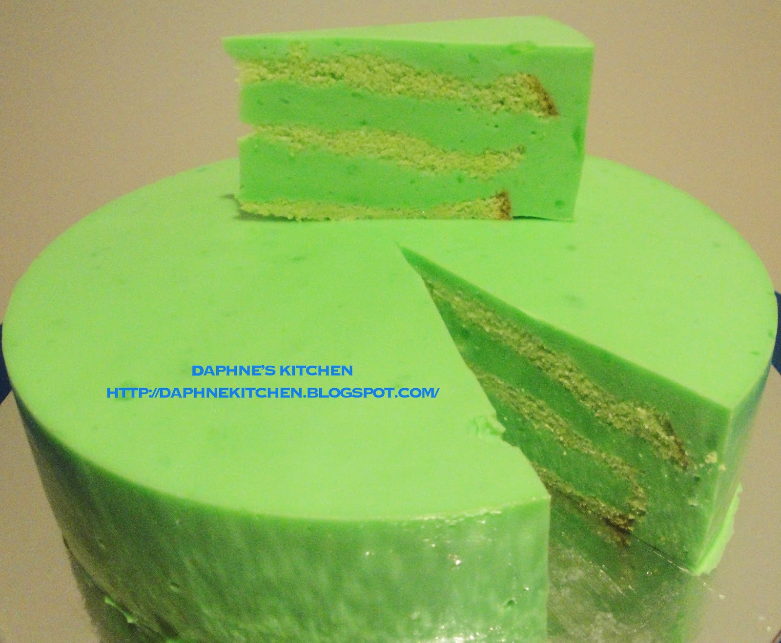 Daphne's Kitchen: Pandan Layer Cake With Better Recipe And