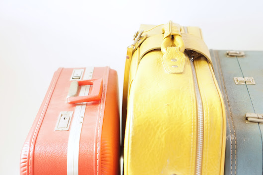 Maker Mama Craft Blog: Thrift Store Collector | Vintage Suitcases