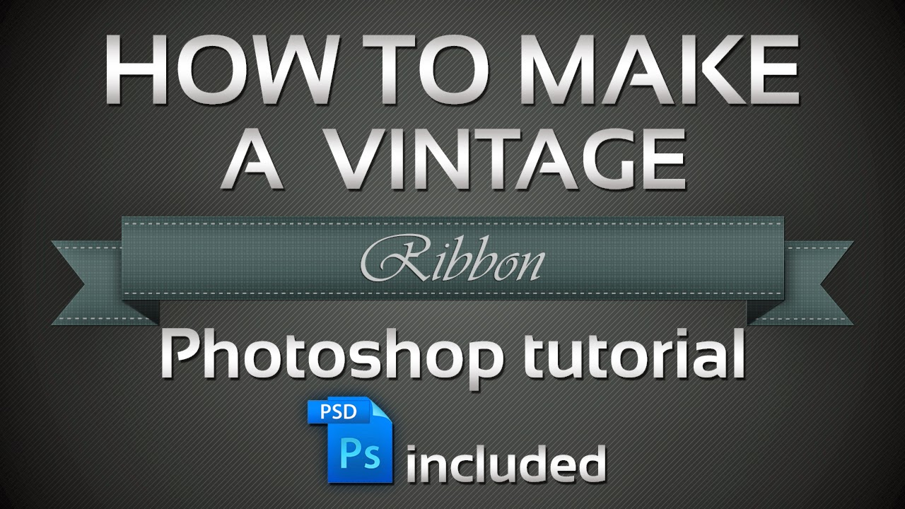 How to make a vintage Ribbon in Adobe Photoshop cs6