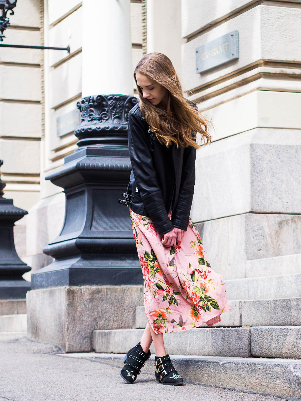 fashion-outfit-inspiration-floral-dress-and-leather-jacket