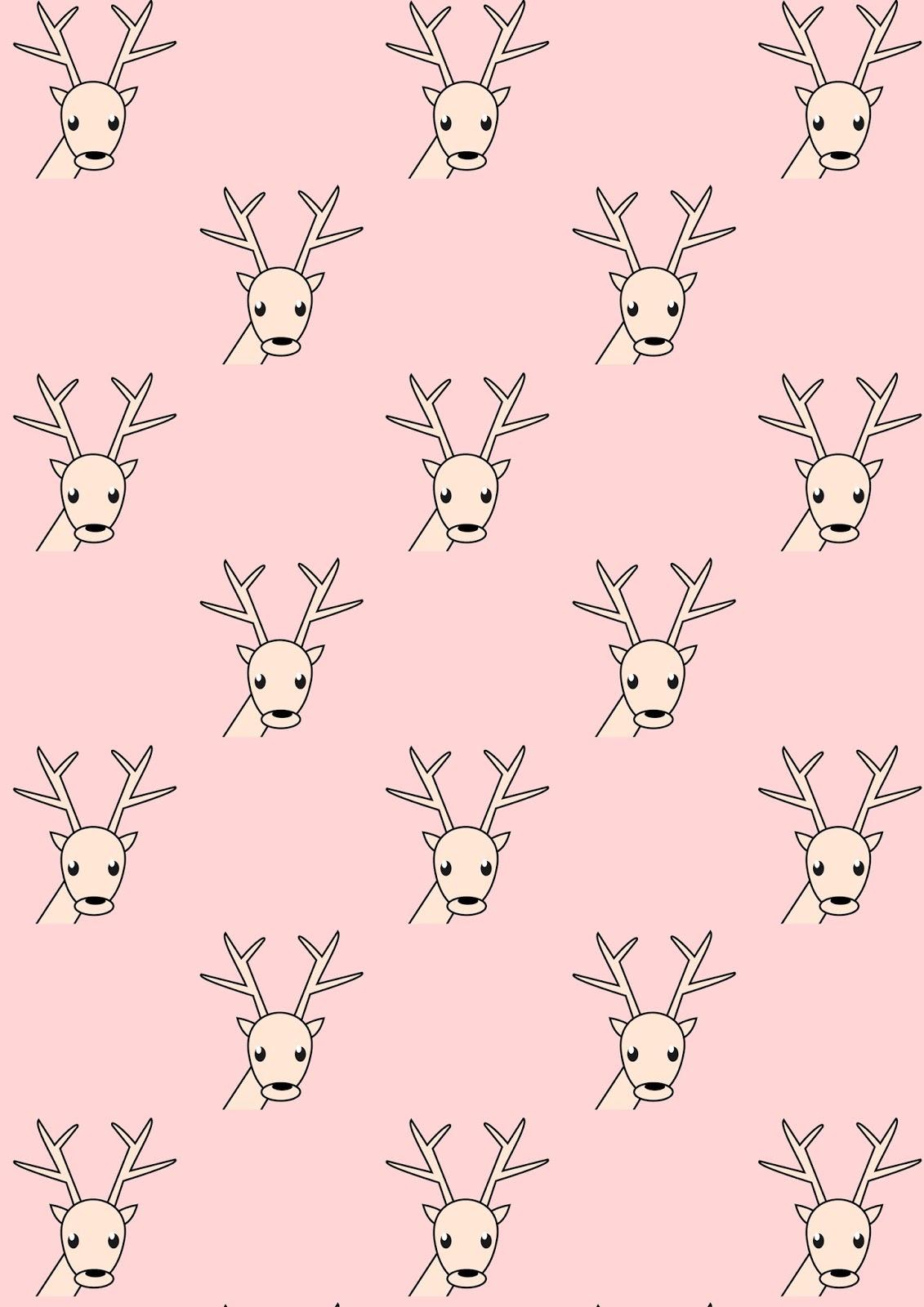 Free Digital Reindeer Scrapbooking Paper