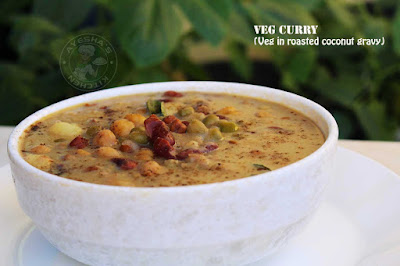 veg curry indian mixed beans curry roasted coconut gravy indian vegetarian curry recipes pulses curry with vegetables ayeshas kitchen recipes