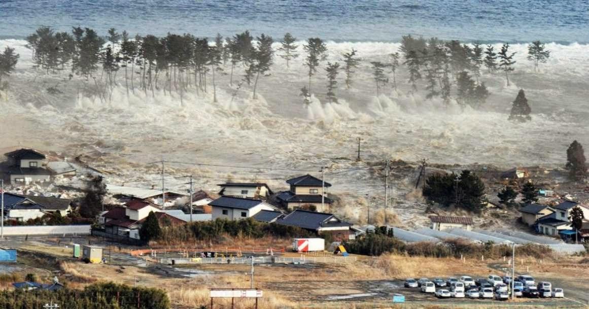 Ola tsunami en Japon