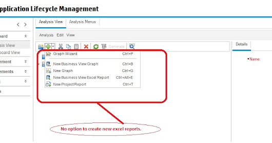Enable 'Create a new Excel report' option in HP-ALM