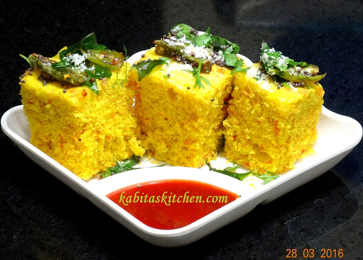 Kabitas kitchen dhokla recipe how to make soft and spongy dhokla dhokla recipe how to make soft and spongy dhokla khaman dhokla besan dhokla forumfinder Images