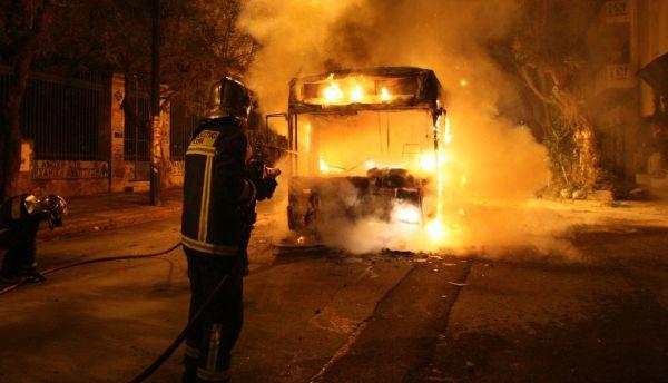Αποζημίωση 700.000 ευρώ από το Δημόσιο για λεωφορεία που κάηκαν από κουκουλοφόρους!εσύ θα τους πληρώσεις αντί τους συριζα ΚΚΕ!
