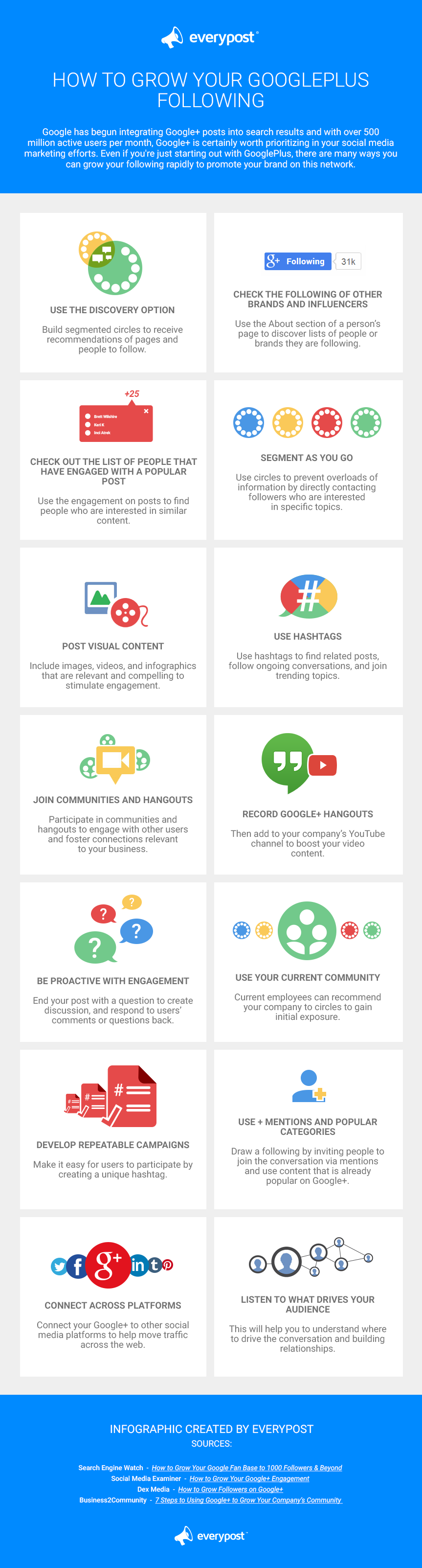 14 ways to grow your audience on Google+