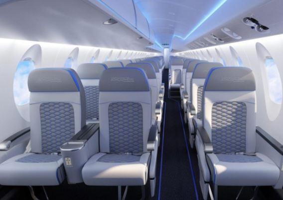 Bombardier CRJ900 interior