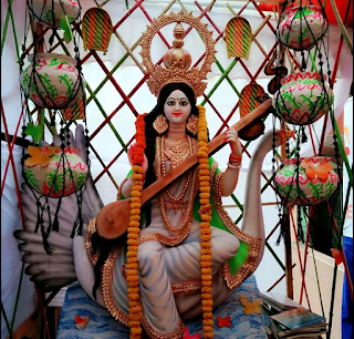 Saraswati Puja Decoration, Pandels, Images