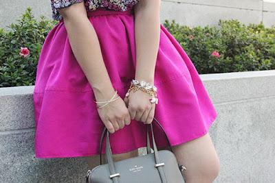 Express Pink Skirt Gold Arm Party Bracelets