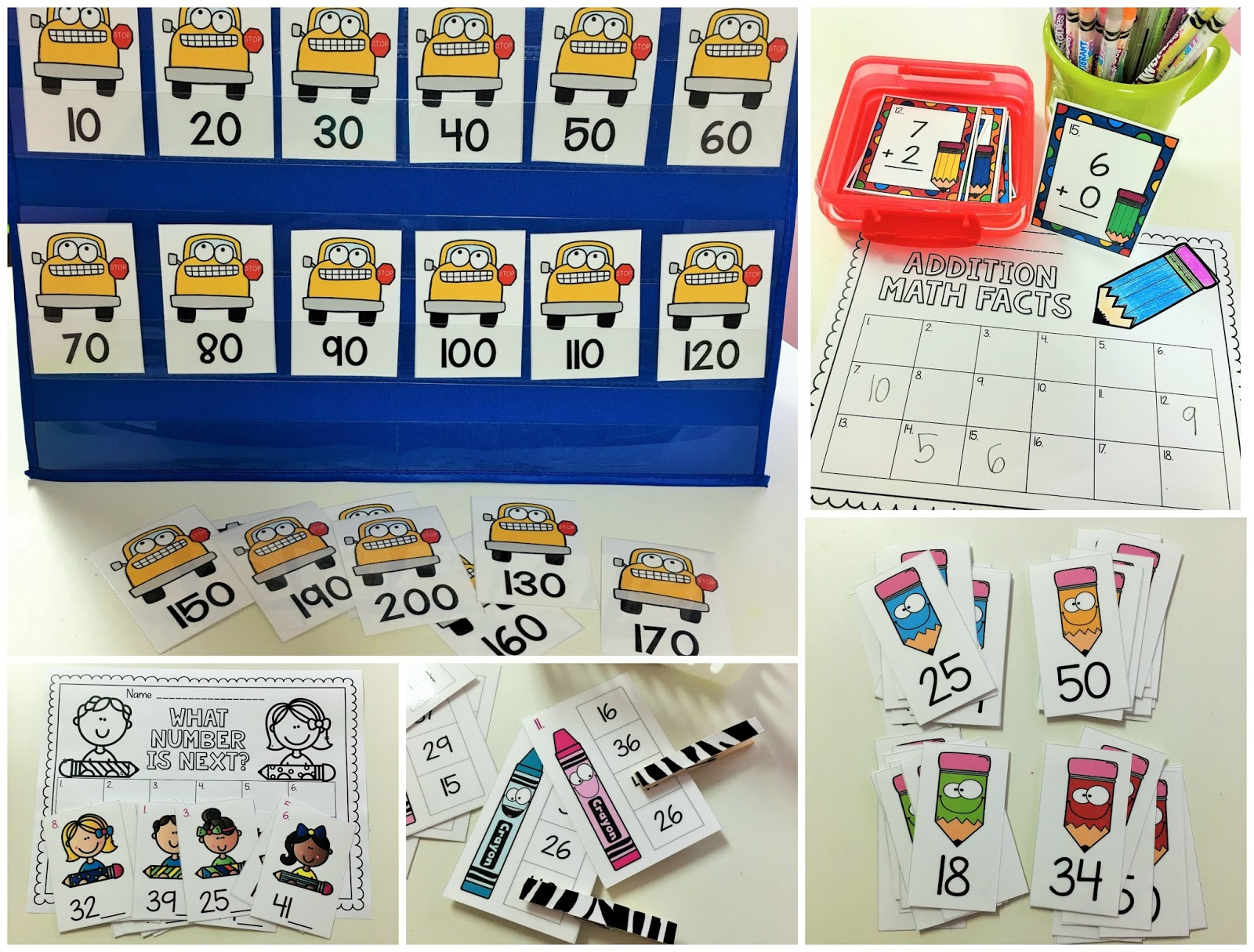 Doodle Bugs Teaching First Grade Rocks Back To School Math Centers And Printables