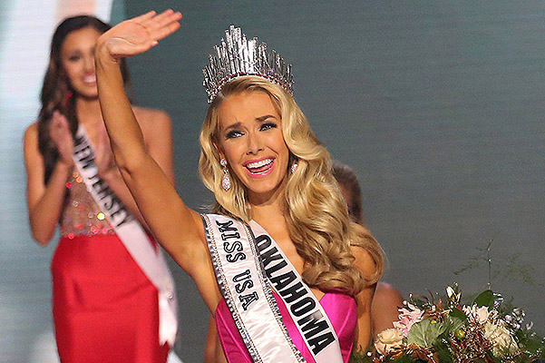 "The title of ""Miss USA 2015"" won the 26-year-old actress from Oklahoma"
