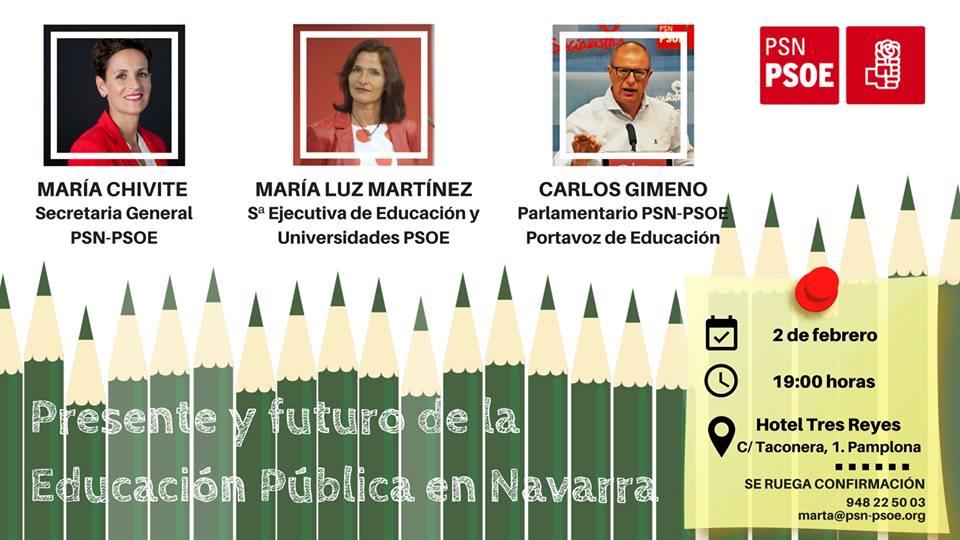 """""""Presente y futuro de la educación pública en Navarra"""""""