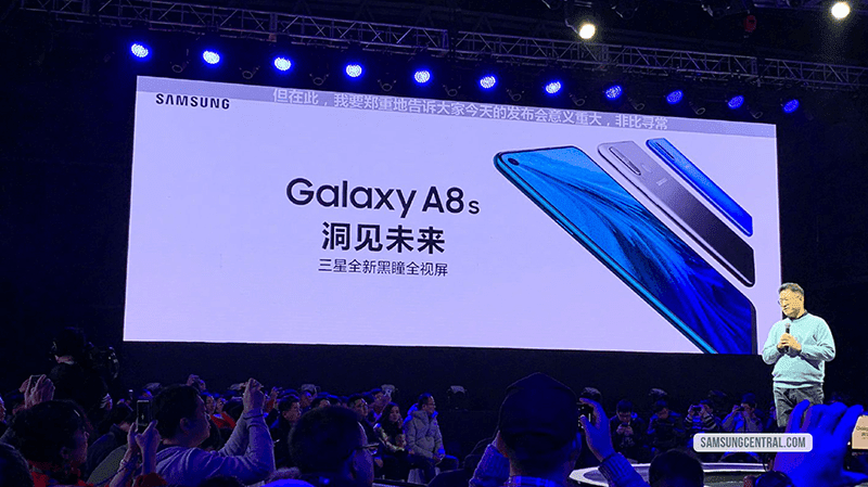 Samsung Galaxy A8s is official, the first with Infinity-O screen