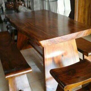 meja makan antik kayu jati