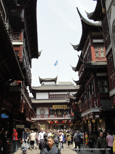 pedestrian street in Old City in Shanghai, China