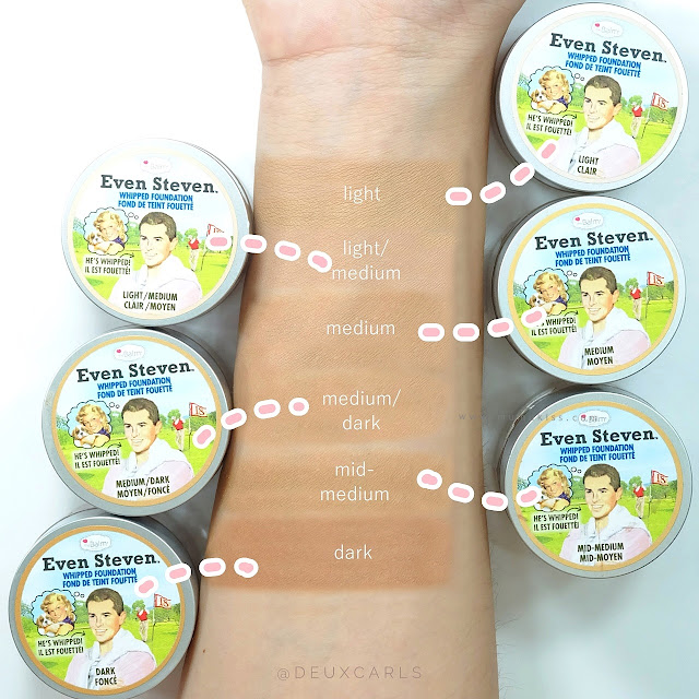 thebalm even steven review swatch