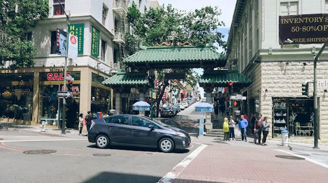 Entrance to Chinatown in San Francisco, California