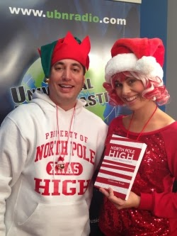 North Pole High: The Musical bookwriter Danny Hercules with author Candycane Claus