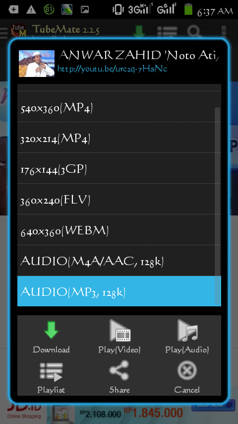 how to download mp3 from youtube android