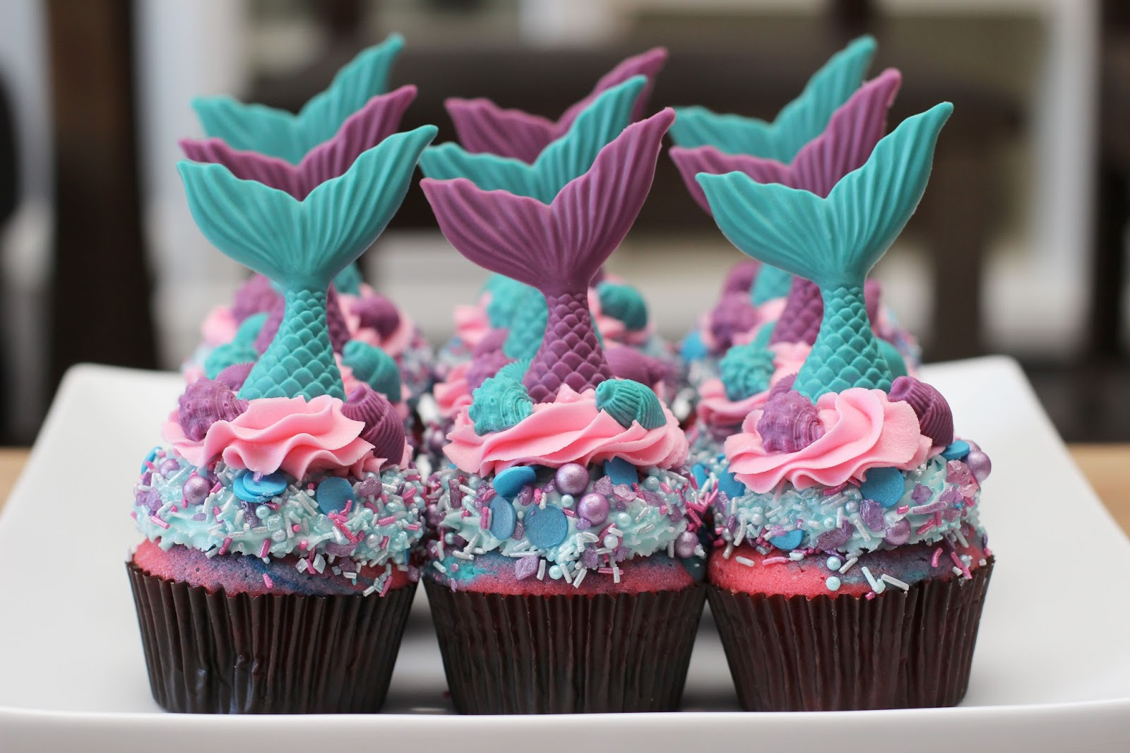 The Sugar Bee Bungalow Sugar Bee Little Mermaid Tail Cupcakes